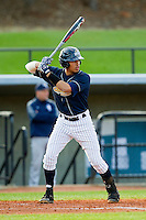 Benigno Marrero (2) of the UNCG Spartans at bat against the Georgia Southern Eagles at UNCG Baseball Stadium on March 29, 2013 in Greensboro, North Carolina.  The Spartans defeated the Eagles 5-4.  (Brian Westerholt/Four Seam Images)