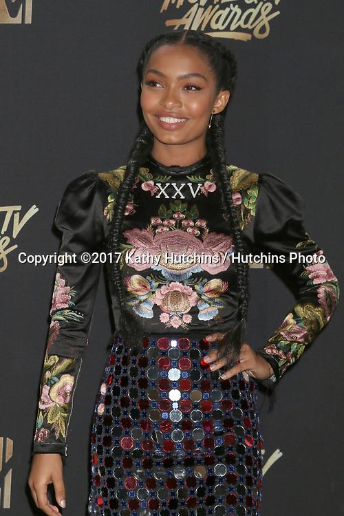 LOS ANGELES - MAY 7:  Yara Shahidi at the MTV Movie and Television Awards on the Shrine Auditorium on May 7, 2017 in Los Angeles, CA