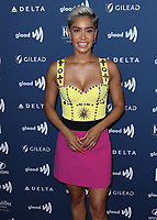BEVERLY HILLS, CA - MARCH 28:  Sibley Scoles at the 30th Annual GLAAD Media Awards at the Beverly Hilton on March 28, 2019 in Beverly Hills, California. (Photo by Xavier Collin/PictureGroup)