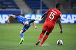 Christoph Baumgartner (Hoffenheim) gegen Jhon Cordoba (1. FC Koeln).<br /> <br /> Sport: Fussball: 1. Bundesliga: Saison 19/20: 28. Spieltag: TSG 1899 Hoffenheim - 1. FC Koeln, 27.05.2020<br /> <br /> Foto: Markus Gilliar/GES/POOL/PIX-Sportfotos.<br /> <br /> Nur für journalistische Zwecke! Only for editorial use!<br /> <br /> Gemäß den Vorgaben der DFL Deutsche Fußball Liga ist es untersagt, in dem Stadion und/oder vom Spiel angefertigte Fotoaufnahmen in Form von Sequenzbildern und/oder videoähnlichen Fotostrecken zu verwerten bzw. verwerten zu lassen. DFL regulations prohibit any use of photographs as image sequences and/or quasi-video.