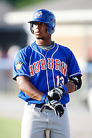 June 19, 2009:  Outfielder Eric Eiland of the Auburn Doubledays during a game at Dwyer Stadium in Batavia, NY.  The Doubledays are the NY-Penn League Short-Season A affiliate of the Toronto Blue Jays.  Photo by:  Mike Janes/Four Seam Images