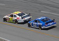 May 6, 2007; Richmond, VA, USA; Nascar Nextel Cup Series driver Greg Biffle (16) leads Ryan Newman (12) during the Jim Stewart 400 at Richmond International Raceway. Mandatory Credit: Mark J. Rebilas