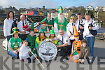 Launching the Killorglin St Patrick's day parade in Killorglin on Saturday was front row l-r: Orna Eccles, Lucy McGillicuddy, Cahir Conway, Grainne Eccles, Petriona Lyons, Paul Bennett, Eoin Boyle, Timothy McGrath. Back row: Ann Boyle, John Costello, Dervil Fleming, Irwin Kingston, Mike Cahillane, Elaine McGillicuddy, Gerard Maynham and Tommy McGillicuddy....