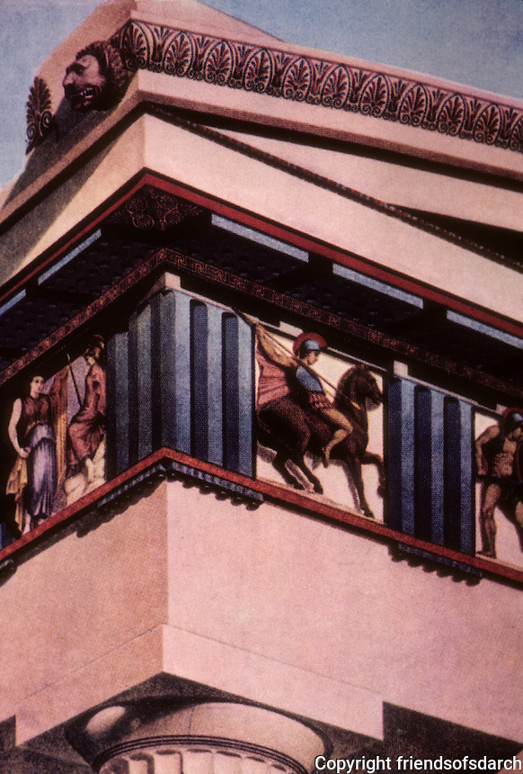 Athens: Parthenon Metopes, Reconstruction. Photo '84.
