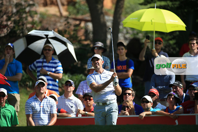 Charl Schwartzel (RSA) in action on the 16th tee during the Final Round of the 2016 Tshwane Open, played at the Pretoria Country Club, Waterkloof, Pretoria, South Africa.  14/02/2016. Picture: Golffile | David Lloyd<br /> <br /> All photos usage must carry mandatory copyright credit (&copy; Golffile | David Lloyd)