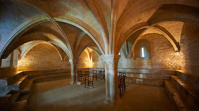 The 12th century Romanesque Cistercian Abbey of Notre Dame of Senanque ( 1148 ).  Provence near Gordes, France.