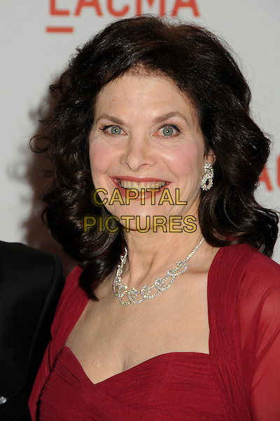 """SHERRY LANSING .LACMA's """"The Unmasking"""" of the Lynda & Stewart Resnick Exhibition Pavilion Opening Gala held at the Los Angeles County Museum of Art, - Los Angeles, California, USA, 25th September 2010..portrait headshot red necklace diamond .CAP/ADM/BP.©Byron Purvis/AdMedia/Capital Pictures."""