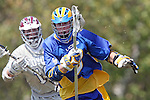 Los Angeles, CA 04/11/09 -  Oisin Lewis (UCSB#2) and Travis Abraham (LMU #10) face off during the first period of play of the UCSB-LMU men's lacrosse game played at Loyola Marymount, UCSB defeated LMU 12-9.