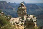 INTERESTING ROCK FORMATION ON CLIFF IN GRAND CANYON