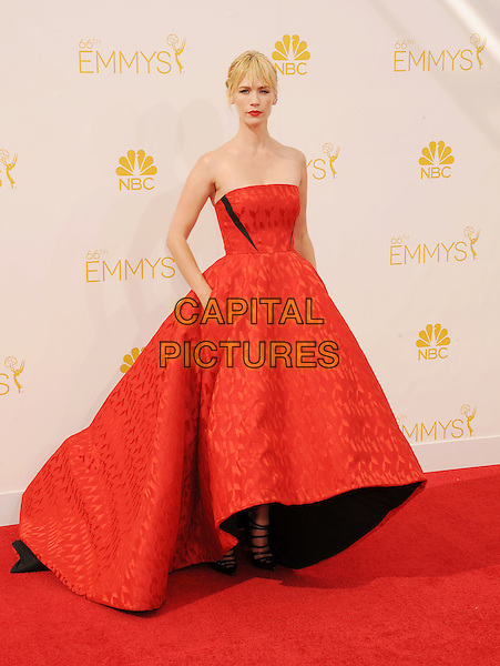 LOS ANGELES, CA- AUGUST 25: Actress January Jones arrives at the 66th Annual Primetime Emmy Awards at Nokia Theatre L.A. Live on August 25, 2014 in Los Angeles, California.<br /> CAP/ROT/TM<br /> &copy;Tony Michaels/Roth Stock/Capital Pictures