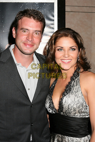 "SCOTT FOLEY & MARIKA DOMINCZYK.NBC's ""Heist"" Premiere at Rodeo Drive's Bvlgari, Beverly Hills, Californi, USA. .March 20th, 2006.Photo: Byron Purvis/AdMedia/Capital Pictures.Ref: BP/ADM.half length black grey gray.www.capitalpictures.com.sales@capitalpictures.com.© Capital Pictures."
