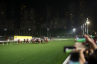 HAPPY VALLEY,WAN CHAI,HONG KONG-APRIL 26: Horses are running at last stretch  at Happy Valley Racecourse on April 26,2017 in Happy Valley,Wan Chai,Hong Kong (Photo by Kaz Ishida/Eclipse Sportswire/Getty Images)