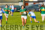 Kerrry's Aislinn Desmond in action against Waterford in the LGFA National football league in Strand Road on Saturday.