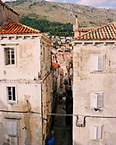CROATIA, Dalmatian coast, Dubrovnik, elevated view of residential structure