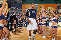 21 January 2012:  FIU guard-forward Dominique Ferguson (3) is introduced prior to the game.  The Florida Atlantic University Owls defeated the FIU Golden Panthers, 66-64, at the U.S. Century Bank Arena in Miami, Florida.