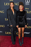 "LOS ANGELES, USA. July 10, 2019: Chloe Bailey & Halle Bailey at the world premiere of Disney's ""The Lion King"" at the Dolby Theatre.<br /> Picture: Paul Smith/Featureflash"