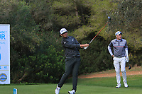 Ewen Ferguson (SCO) on the 5th tee during Round 3 of the Challenge Tour Grand Final 2019 at Club de Golf Alcanada, Port d'Alcúdia, Mallorca, Spain on Saturday 9th November 2019.<br /> Picture:  Thos Caffrey / Golffile<br /> <br /> All photo usage must carry mandatory copyright credit (© Golffile | Thos Caffrey)