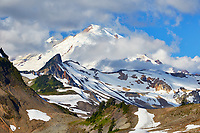 View of the Mount Baker volcano, located in the North Cascades region of the state of Washington