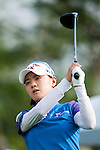 CHON BURI, THAILAND - FEBRUARY 17:  Na Yeon Choi of South Korea tees of on the 18th hole during day one of the LPGA Thailand at Siam Country Club on February 17, 2011 in Chon Buri, Thailand.  Photo by Victor Fraile / The Power of Sport Images