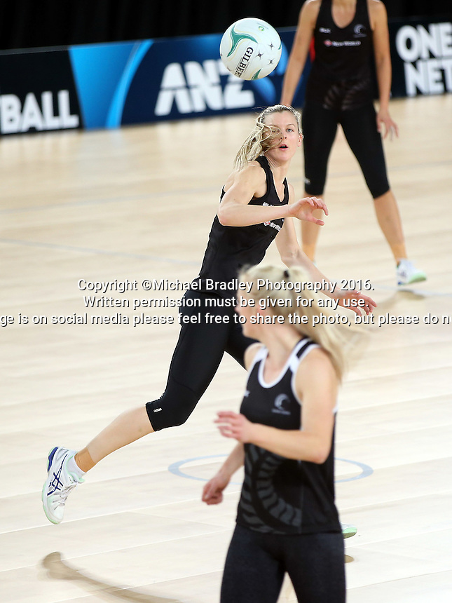 02.09.2016 Silver Ferns Katrina Grant as the Silver Ferns have a walk though during training in Melbourne Australia ahead of their match against Australia. Mandatory Photo Credit ©Michael Bradley.
