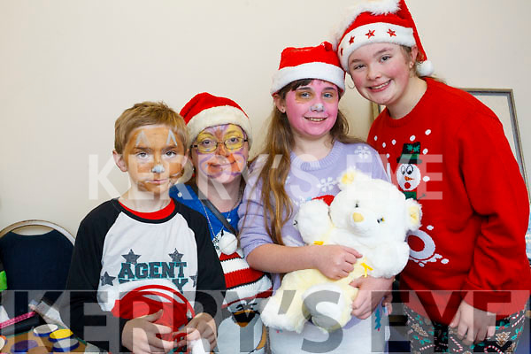 The Knightly family at the St John's Church Christmas Fair at Teach an tSolais, Ashe Street, Tralee on Saturday morning last. L to r: Christopher Knightly, Winnie Knightly, Knatasha Knightly and Samantha Knightly.