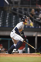 ***Temporary Unedited Reference File***Montgomery Biscuits left fielder Granden Goetzman (10) during a game against the Chattanooga Lookouts on May 2, 2016 at AT&T Field in Chattanooga, Tennessee.  Chattanooga defeated Montgomery 9-6.  (Mike Janes/Four Seam Images)