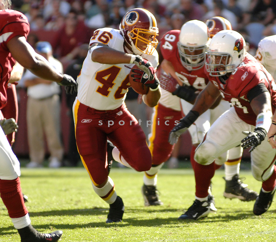 LADELL BETTS, of the Washington Redskins in action during the Redskin game against the Arizona Cardinals on October 21, 2007 in Landover, Maryland...Redskins win 21-19..SportPics
