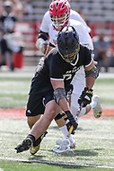 College Park, MD - May 14, 2017: Bryant Bulldogs Kenny Massa (31) gets the groundball during the NCAA first round game between Bryant and Maryland at  Capital One Field at Maryland Stadium in College Park, MD.  (Photo by Elliott Brown/Media Images International)