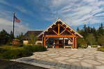 Visitor Center, Schoodic Woods campground, Acadia National Park, Maine, USA