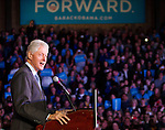 October 19, 2012- Green Bay, United States: Former President Bill Clinton speaks at the Kress Center on the University of Wisconsin Green Bay campus. Clinton was in Wisconsin campaigning for President Obama and drew an enthusiastic crowd of 2,200 people. (Christina Capasso/Polaris)