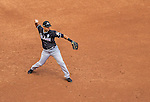 1 April 2013: Miami Marlins infielder Placido Polanco in action during the Opening Day Game against the Washington Nationals at Nationals Park in Washington, DC. The Nationals shut out the Marlins 2-0 to launch the 2013 season. Mandatory Credit: Ed Wolfstein Photo *** RAW (NEF) Image File Available ***
