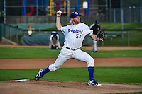 Ogden Raptors starting pitcher Kevin Brown (54) delivers a pitch to the plate against the Grand Junction Rockies in Pioneer League action at Lindquist Field on September 3, 2015 in Ogden, Utah. Grand Junction defeated Ogden 16-8. (Stephen Smith/Four Seam Images)