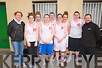 Basketball Tournament : Taking part in the Jim Lay Memorial Basket ball tournament held over the Easter weekend at Listowel Community centre were the Ballylongford basketball team pictured with special guest from Scotland Lisa Palombo of the Lady's Rocks Basketball , Glasgow & event organizer Denis O'Carroll. Front : Lisa Palombo, Michelle McCarthy, Anne McCarthy & Denis O'Carroll. Bcak : Rachel Collins, Evelyn Stack, Stephanie Collins & Sorcha Stack.
