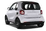 Car pictures of rear three quarter view of a 2015 Smart FORTWO PRIME 3 Door Micro Car Angular Rear
