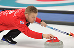 Kyle Waddell (GBR). Mens Curling training. Pyeongchang2018 winter Olympics Gangneung curling centre. Gangneung. Republic of Korea. 12/02/2018. ~ MANDATORY CREDIT Garry Bowden/SIPPA - NO UNAUTHORISED USE - +44 7837 394578