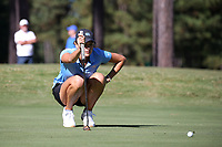 CHAPEL HILL, NC - OCTOBER 11: Ava Bergner of the University of North Carolina lines up a putt at UNC Finley Golf Course on October 11, 2019 in Chapel Hill, North Carolina.