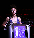 Amber Gray on stage at the 73rd Annual Theatre World Awards at The Imperial Theatre on June 5, 2017 in New York City.