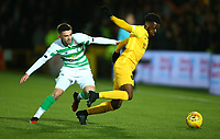 4th March 2020; Almondvale Stadium, Livingston, West Lothian, Scotland; Scottish Premiership Football, Livingston versus Celtic; Greg Taylor of Celtic pulls back Steve Lawson