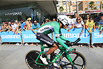 Nelson Soto Martinez (COL) Caja Rural-Seguros RGA during Stage 1 of the La Vuelta 2018, an individual time trial of 8km running around Malaga city centre, Spain. 25th August 2018.<br /> Picture: Ann Clarke | Cyclefile<br /> <br /> <br /> All photos usage must carry mandatory copyright credit (&copy; Cyclefile | Ann Clarke)
