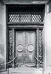 Ornate door to office building in city CBD, Sydney, NSW, Australia