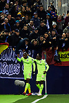 Allan-Romeo Nyom of Getafe FC celebrates goal during La Liga match between CD Leganes and Getafe CF at Butarque Stadium in Leganes, Spain. January 17, 2020. (ALTERPHOTOS/A. Perez Meca)