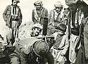 Iraq 1977 <br /> Mullazem Omar Abdallah and a mortar in Nawzang  <br /> Irak 1977 <br /> Mullazem Omar Abdallah et un mortier a Nawzang