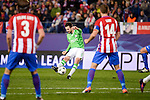"Atletico de Madrid's player Filipe Luis and Gabriel ""Gabi"" Fernández and PSV Eindhoven's players Davy Propper during a match of La Liga at Vicente Calderon Stadium in Madrid. November 22, Spain. 2016. (ALTERPHOTOS/BorjaB.Hojas)"