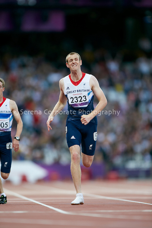 Ben Rushgrove crosses the line third and takes bronze in the men's T36 200m final at the London Paralympic Games in a personal best time of 24:83- Athletics 6.9.12