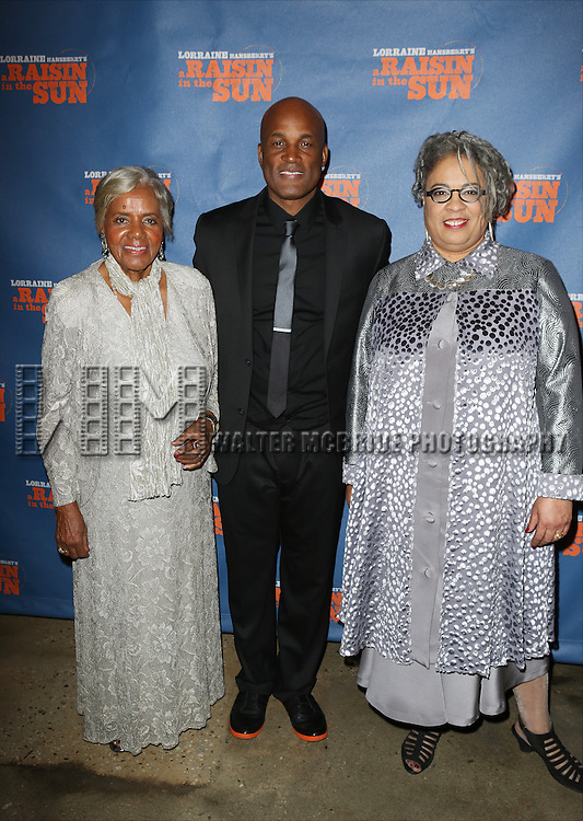 "Kenny Leon with Lorraine Hasberry Family attends the Broadway Opening Night After Party for  ""A Raisin In The Sun"" at Tribeca Rooftop on April 3, 2014 in New York City."