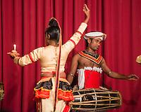 Kandy, traditional Kandyan dance performance at the Kandy Arts Assication Hall, Sri Lanka, Asia. This is a photo of a traditional Kandyan dance performance at the Kandy Arts Assication Hall, Sri Lanka, Asia.