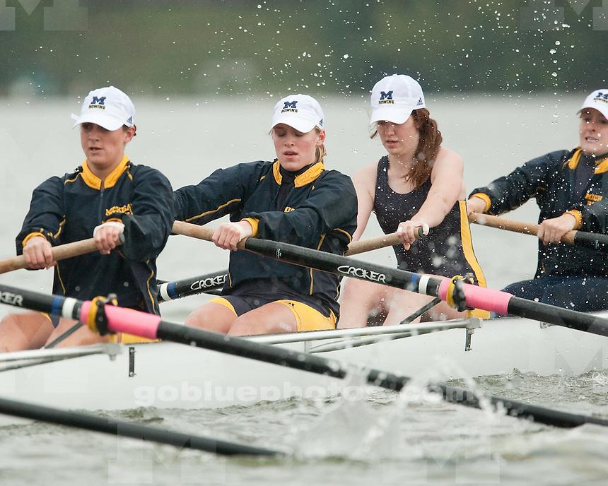 10/3/09 Women's Rowing vs. Ohio State at Belleville Lake, MI..