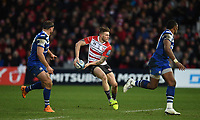 4th January 2020; Kingsholm Stadium, Gloucester, Gloucestershire, England; English Premiership Rugby, Gloucester versus Bath; Jason Woodward of Gloucester passes the ball down the line - Editorial Use