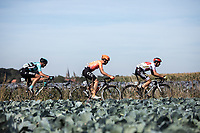 breakaway group with Ylber Sefa (ALB/Tarteletto Isorex), Guillaume Seye (BEL/Beat Cycling Club) and Jonas Koch (GER/CCC)<br /> <br /> 104th Kampioenschap van Vlaanderen 2019<br /> One Day Race: Koolskamp > Koolskamp 186km (UCI 1.1)<br /> ©kramon