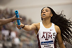 COLLEGE STATION, TX - MARCH 11: Briyahna Desrosiers of Texas A&M hands off the baton in the women's 4x400 meter relay during the Division I Men's and Women's Indoor Track & Field Championship held at the Gilliam Indoor Track Stadium on the Texas A&M University campus on March 11, 2017 in College Station, Texas. (Photo by Michael Starghill/NCAA Photos/NCAA Photos via Getty Images)